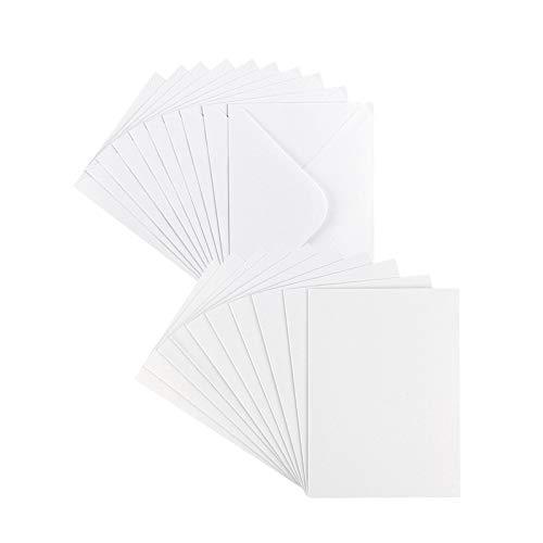 Grußkarten-Set | Perlmutt-Veredelung | 10 Karten ca. 250 g/m² + 10 Umschläge ca. 120 g/m² | In Weiß | 10,5 cm x 14,8 cm (C6)