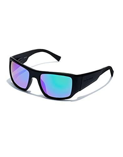 HAWKERS · Gafas de sol 360 para hombre y mujer · CARBON BLACK · EMERALD