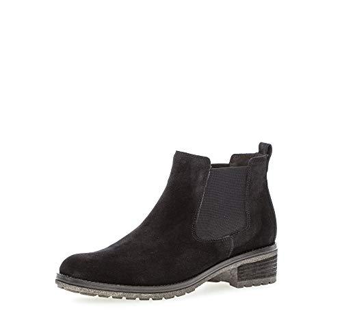 Gabor Damen Stiefeletten, Frauen Chelsea Boots,Chelsea Boots, Stiefel halbstiefel Bootie Schlupfstiefel flach,Pazifik,43 EU / 9 UK