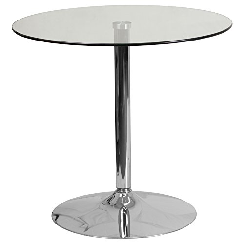 Flash Furniture 31.5'' Round Glass Table with 29''H Chrome Base - CH-7-GG