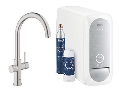 Grohe Blue Home Duo - 2-in-1 Trinkwassersystem und Küchenarmatur (gekühlt, gefiltert, mit Kohlensäure, C-Auslauf) 31455DC0