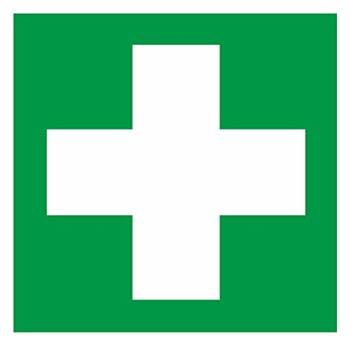 Aufkleber Erste Hilfe Folie 10 x 10 cm grün