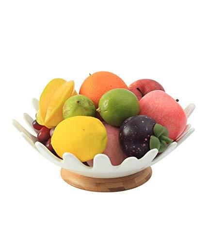 QL fruitschaal grote fruitschaal keramiek huishouden fruitmand snacks droge vruchten bewaarmand moderne woonkamer fruitschaal