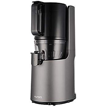 ヒューロムスロージューサー H-200(ダークグレー) | スロージューサー ジューサー ミキサー コールドプレスジュース 自動搾汁