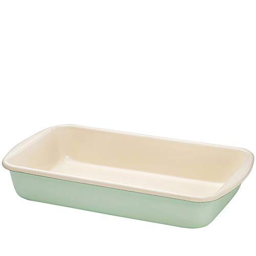 RIESS Classic - Haushaltswaren Farbe/Pastell Rechteckige Auflaufform Ø 38 cm nil grün