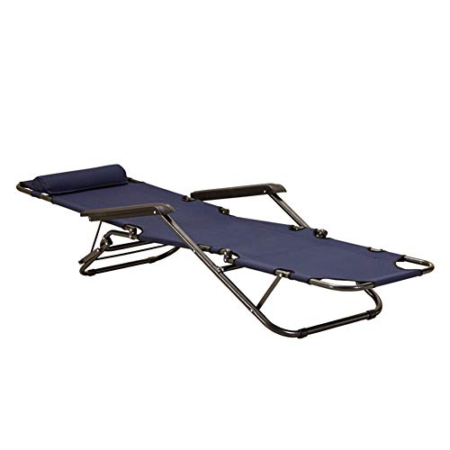 GLMAS - Silla reclinable para el hogar, silla plegable para el almuerzo, oficina, hogar, silla de playa portátil