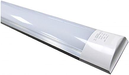 Led Atomant (LA) Pantalla Carcasa Integrado 120cm, 40 W, Color Blanco Frio 6500K, Equivalente a 2 Tubos Fluorescentes o Led 3300 lumenes Reales. A Prueba de Polvo, 120 Cm