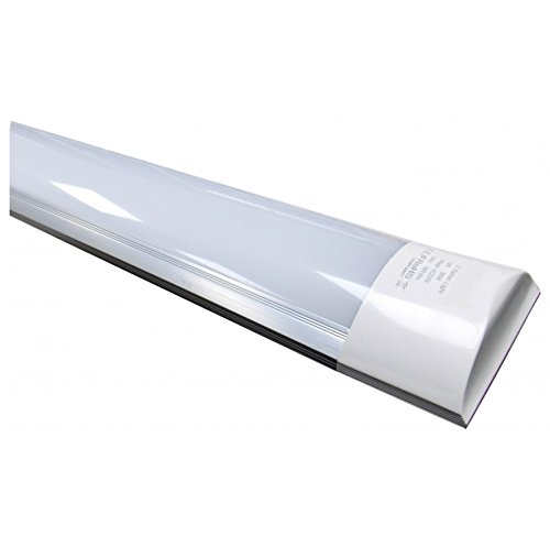 (LA) Pantalla Carcasa Tubo led integrado T10, 36w, 120cm a prueba de polvo color blanco frio (6500K) equivalente a 2 tubos T8 fluorescentes o Led 3300 lumenes reales!