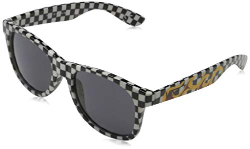 Vans Spicoli 4 Shades Gafas, BLACK-WHITE CHECK-FLAME, One Size Unisex Adulto