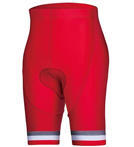 CEROTIPOLAR Men's Pro High Waist Compression Cycling Shorts, Bike Shorts Italian Chamois Padded UPF50+