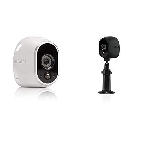 Arlo HD Überwachungskamera & Alarmanlage, Zusatzkamera, Smart Home, kabellos & Verstellbare Innen/Außen Halterung (geeignet für Arlo HD, Pro und Pro 2 kabellose Überwachungskamera) schwarz