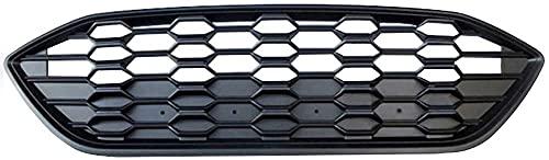 Zaaqio Parrilla de Estiramiento Facial Superior, Rejilla de Parachoques Delantero de Carreras para Ford Focus Mk4 St-Line 2019 2020, Negro Brillante