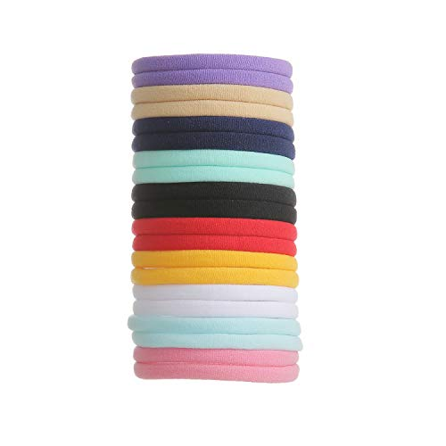 inSowni 50 Pack Super Soft Stretchy DIY Solid Nylon Headbands Baby Hair Bands One Size Fits All (10 Multi-color)
