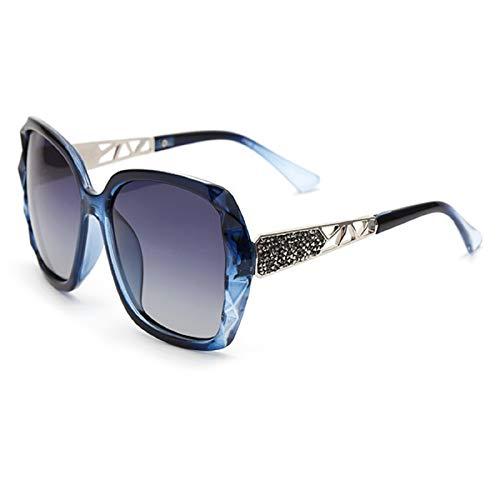 N\P Gafas de sol polarizadas de montura grande para mujer Gafas de sol anti ultravioleta Gafas de conducción de cara redonda para mujer