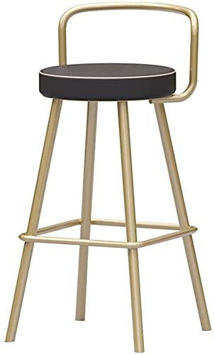 Chilequano Home Furniture Reposapiés, Bar Moderno Taburete/Silla Taburma de Vestir con Espalda y reposapiés, Asiento de Esponja de Cuero, Pub Contador Cafe Restaurante Alto Taburetones Casillas de c