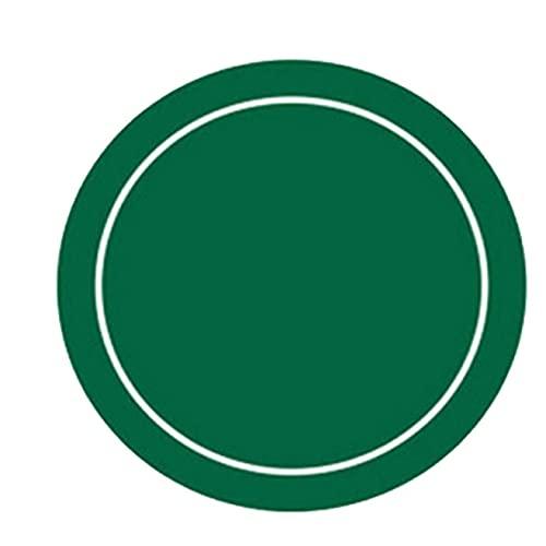 HBIAO Tapete de póquer Redondo, Tablero de Mesa de póquer de Espuma de Goma portátil Profesional, tapete de diseño de Juego de Jugadores con Bolsa de Transporte,48in