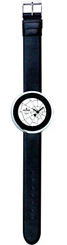 SHEPHERD 15202 Spinnenuhr silberfarben Damen Armbanduhr (kleine Version) 34 mm Durchmesser Quarz