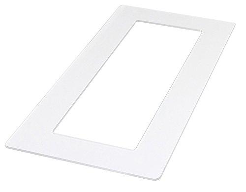 kekef Acrylglas Dekorrahmen klar 1-fach 2-fach 3-fach 4-fach, beidseitig benutzbar glänzend oder entspiegelt, Tapetenschutz Wandschutz für Lichtschalter und Steckdosen (antireflex 3-fach)
