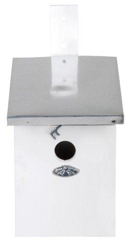 Esschert Design Nistkasten, Vogelhaus Kohlmeisen in weiß, ca. 17 cm x 21 cm x 33 cm