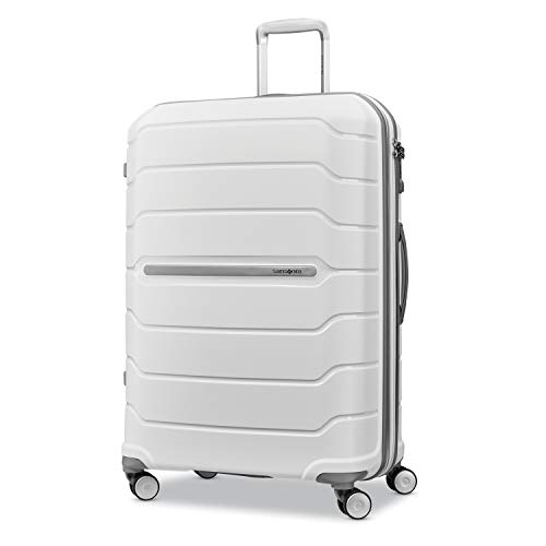 Samsonite Freeform Hardside Luggage, White, Checked-Large