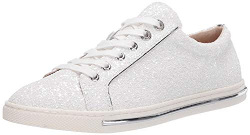 Badgley Mischka Women's Jubilee Sneaker, White Glitter, 11 M US