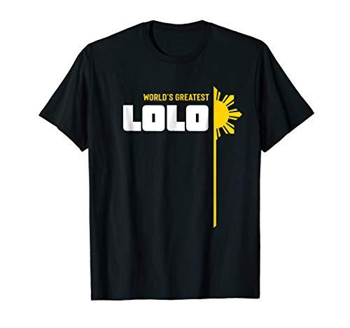 World's Greatest Lolo T-Shirt - Filipino Grandpa T Shirt