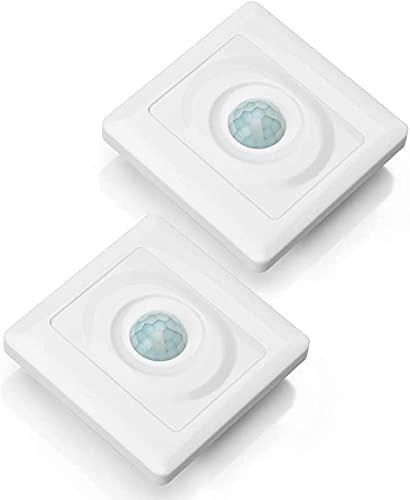 壁自動スイッチ人感センサー光りセンサー赤外線 キッチン台所やお手洗い便所トイレや廊下や玄関等にお勧め 2個セット