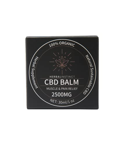 100% Organic and Sustainable CBD Hemp Balm 2500mg Cold-Pressed CBD Pain Relief   Anxiety Relief   Relaxation Balms  