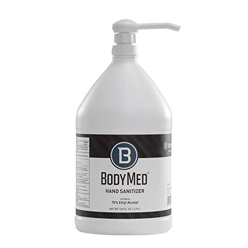 BodyMed Hand Sanitizer, 1 Gallon (128 oz.) – Gel Sanitizer with Pump – Formulated with 70% Ethyl Alcohol –Alcohol Based Sanitizing – Hand Sanitizer Gel with Alcohol