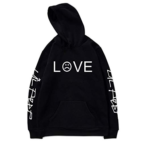 ZZALLL Unisex Hombres Mujeres Pullover Hoodies Sudaderas Rapper Letters Tops Chaqueta - L #