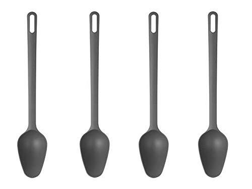 IKEA FULLANDAD - Cuchara (33 cm, 4 unidades), color gris