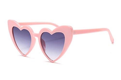 FEISEDY Occhiali da sole Cuore Vintage Occhiali da sole da Donna Eleganti Grandi occhiali da Regalo B2421