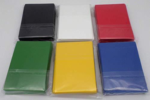 docsmagic.de 6 x 60 Mat Card Sleeves Small Size 62 x 89 - Black Blue Green Red White Yellow - YGO CFV - Mini Bustine