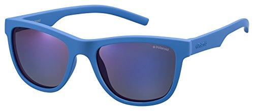 Polaroid PLD 8018/S JY ZDI Gafas de Sol, Azul (Bluette/Greyblmirror Pz), 47 Unisex Niños
