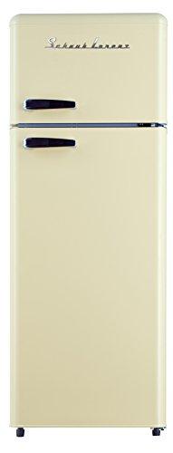 SCHAUB LORENZ SL GK212.4RT A++ SC Freistehend Kühlschrank mit Gefrierfach / Retro PopArt / A++ / 212