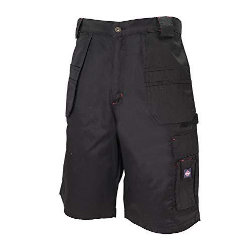 Lee Cooper Herren Cargo-Shorts mit Mehreren Holstertaschen, 36 Waist, Schwarz, 1