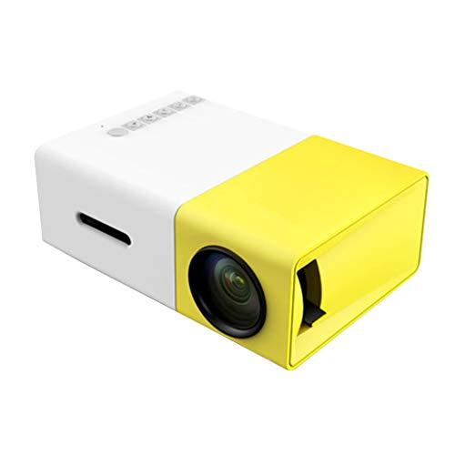 Huluda YG300 LED Projector 600 Lumen 3.5mm Audio 320x240 Pixels YG-300 USB