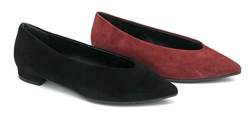 Andrea Zali 1224 Ballerina camoscio Nero Rosso - Taglia Scarpa 35 Colore Rosso