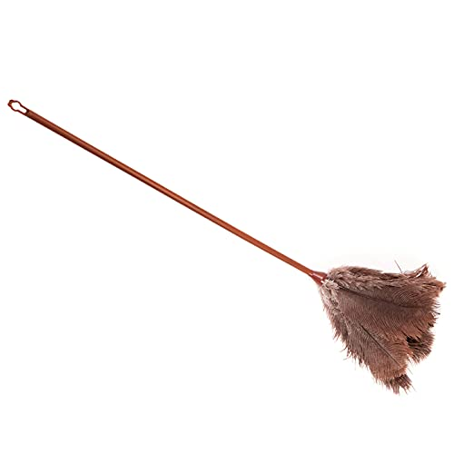 Pamex - Plumero de plumas de avestruz 70 cm, mango de plástico con agujero, plumero atrapapolvo, plumas suaves, reutilizable, lavable, quitar el polvo, telas de araña, limpieza del hogar, oficina