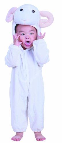 Fun Play Costume de bélier pour Les Enfants - Joli Costume d'animal et Combinaison pour Filles et garçons -Costumes pour Les Medium 3-5 Ans (110 CM)