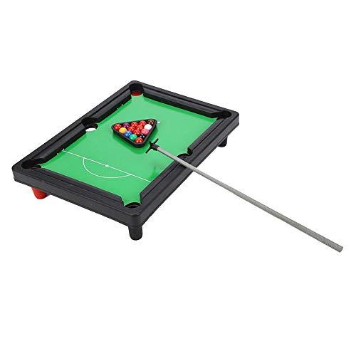 Vikye Biliardo da Tavolo, Set da Gioco Mini Snooker Portatile ad Alta Simulazione 13x9,5x2,6 Pollici Tavolo da Biliardo, Dimensioni compatte di Piccole Dimensioni per Praty per Giocare in Famiglia