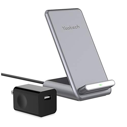 Yootech 7.5W/10W/15W Fast Wireless Charger with Cooling Fan,7.5W Wireless Charging Stand with QC3.0 Adapter Compatible iPhone 11/11 Pro/11 Pro Max,15W LG V30/V35/G8,10W Galaxy S20/S10,Pixel 3/4XL