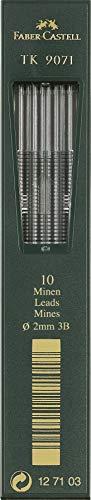 Faber Castell TK9071 - Minas para portaminas (2 mm, 3b, 10 unidades)