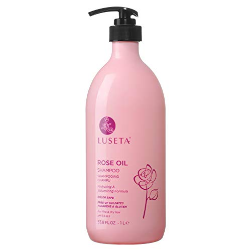 shampoos for fines Luseta Rose Oil Shampoo for Fine and Dry Hair, 33.8oz