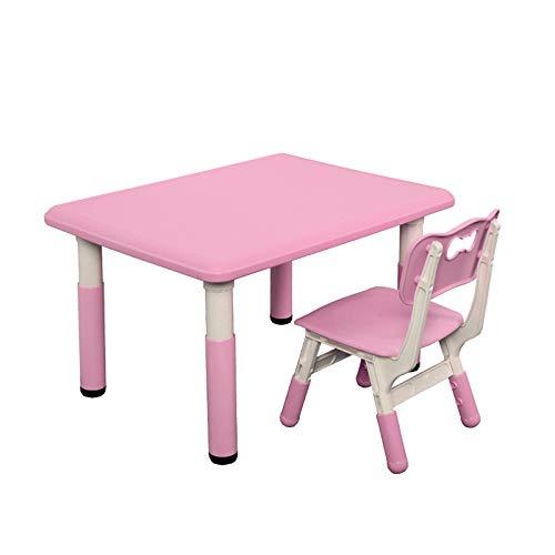 USWEAR Juego de Mesa y Silla Multiusos para educación en el hogar, Juego de Muebles adaptables para niños, Escritorio de Aprendizaje para niños, Rosa