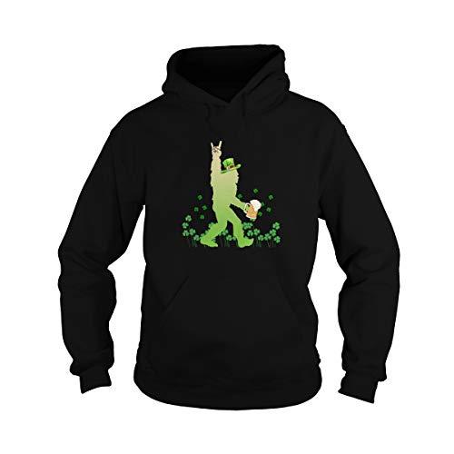 Bigfoot with Beer Sasquatch Yety Lucky Shamrock Tee St Patrick Day Paddy Holiday Camiseta