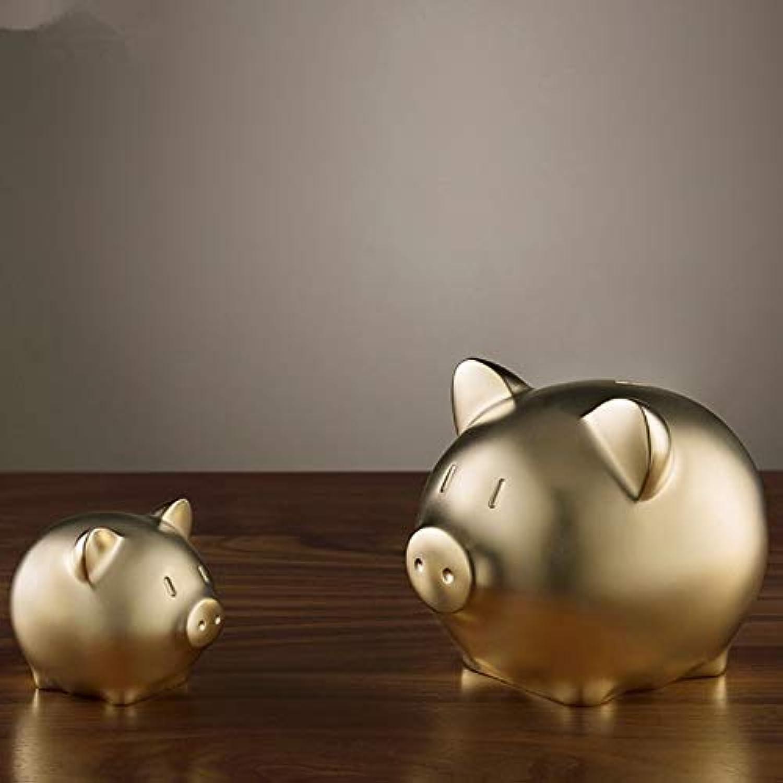 tienda de bajo costo Mini Escultura Escultura Escultura Miniatura Adornos Jardín Accesorios Moderno Lucky oro Pig Estatua Latón Feng Shui Pig Escultura Recuerdo Miniatura Animal Estatuilla Mini Decoración Arte Regalo  lo último