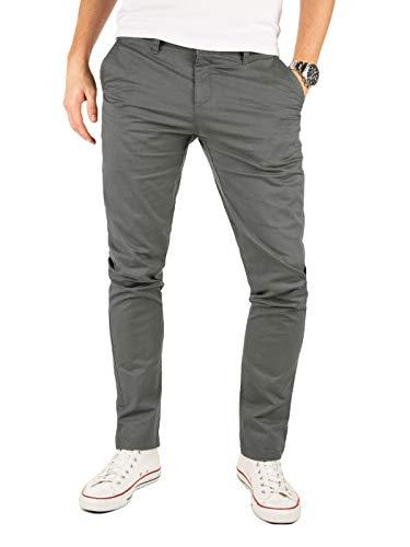 Yazubi Chino Herren Hosen - Modell Kyle by Yzb Jeans - Graue Stoffhose Chinohose für Männer mit Stretch, Grau (Magnet 4R193901), W29/L30