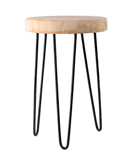 Lifestyle & More Rustikaler Massivholz Beistelltisch Baumscheibe mit Rinde Holztisch Hocker aus Baumscheibe Sofatisch Couchtisch Durchmesser 28 cm Höhe 40 cm