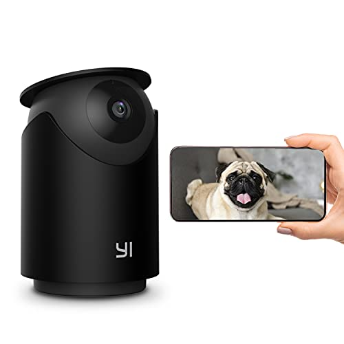 [2K] YI Pet Camera Dog Camera with Phone App Pet Dog Cat Puppy Cam Monitor Two Way Audio and Video, Pan/Tilt/Zoom, WiFi, Night Vision, Sound Motion Detection, Compatible with Alexa and Google